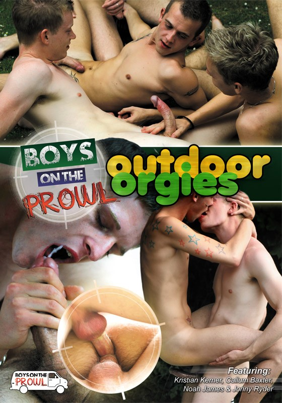 Boys On The Prowl 4: Outdoor Orgies DVD - Front