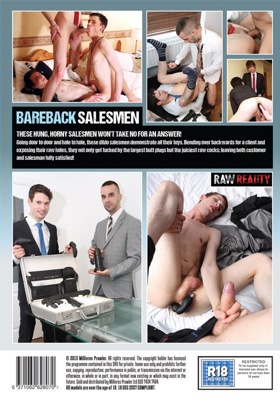Bareback Salesmen DVD - Back