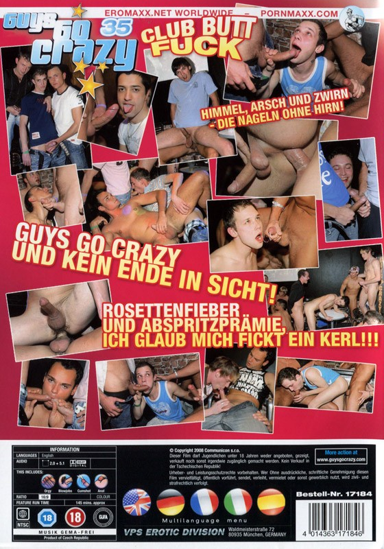 Guys Go Crazy 35: Club Butt Fuck DVD - Back