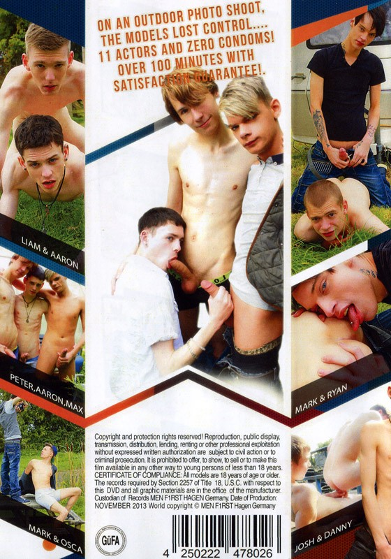 Calendar Boys DVD - Back