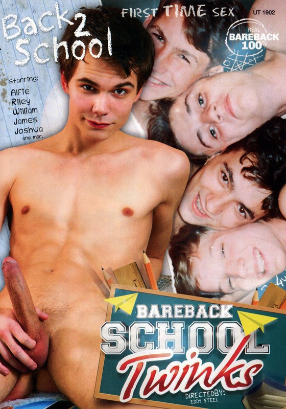 Back 2 School: Bareback School Twinks DVD - Front