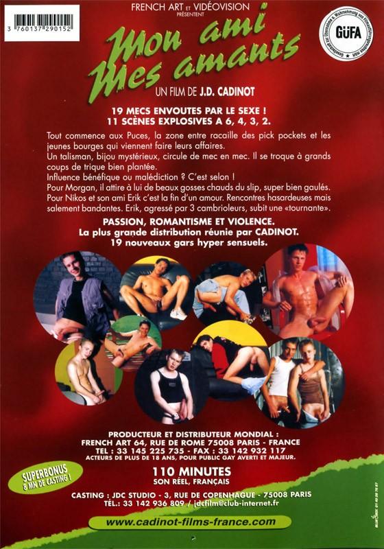 Mon Ami Mes Amants DVD - Back