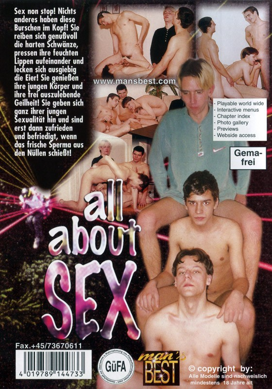All About Sex DVD - Back