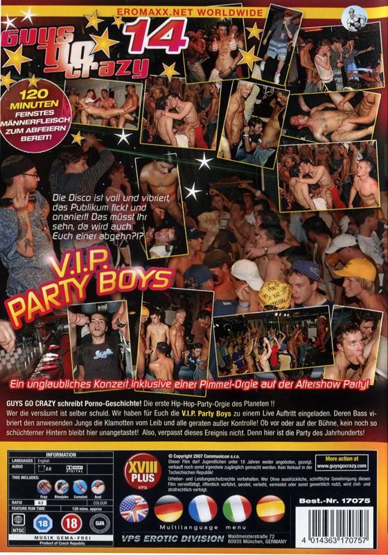 Guys Go Crazy 14: V.I.P. Party Boys DVD - Back
