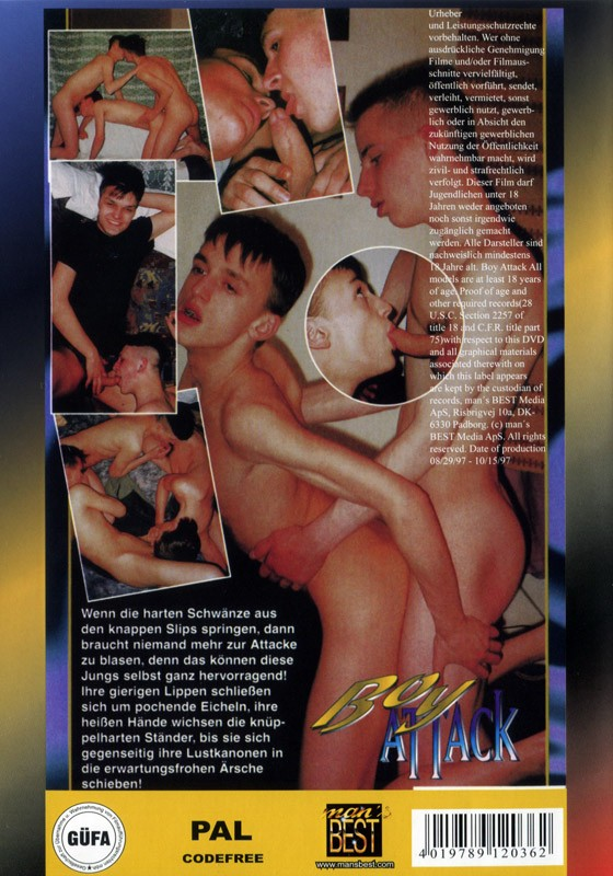 Boy Attack DVD - Back