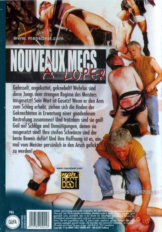 Nouveaux Mecs A Loper DVD - Back