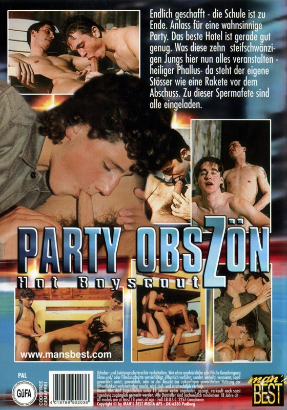 Party Obszön Hot Boyscout DVD - Back