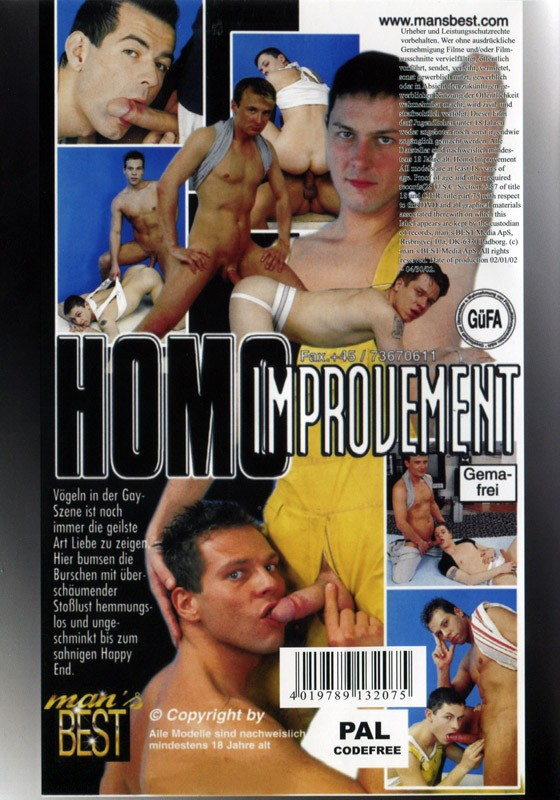 Homo Improvement DVD - Back