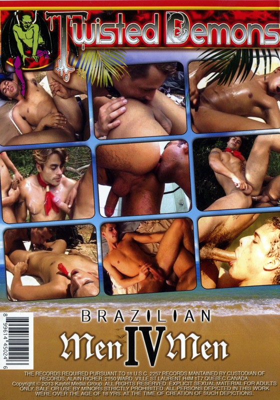 Brazilian MenIVMen Vol. 1 DVD - Back