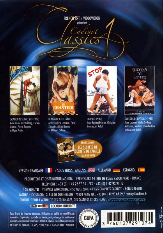 Cadinot Classics 1 DVD - Back