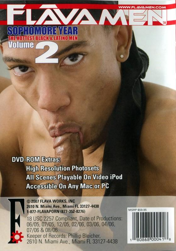 FlavaMen Sophomore Year 2 DVD - Back