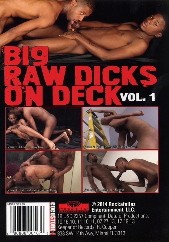 Big Raw Dicks On Deck Vol. 1 DVD - Back