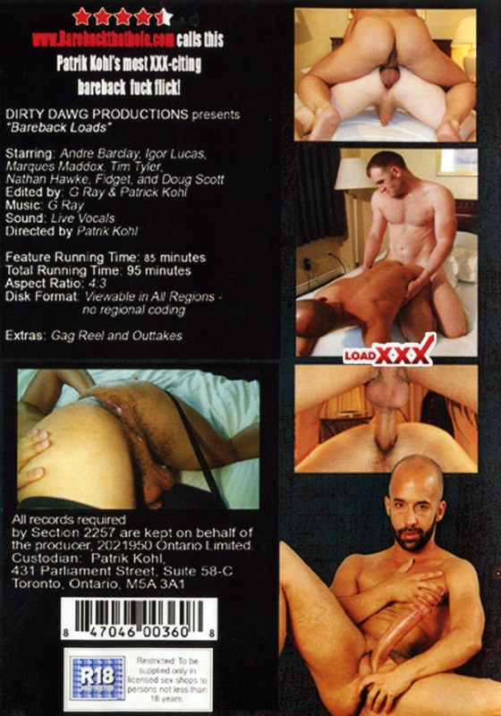 Bareback Loads DVD - Back