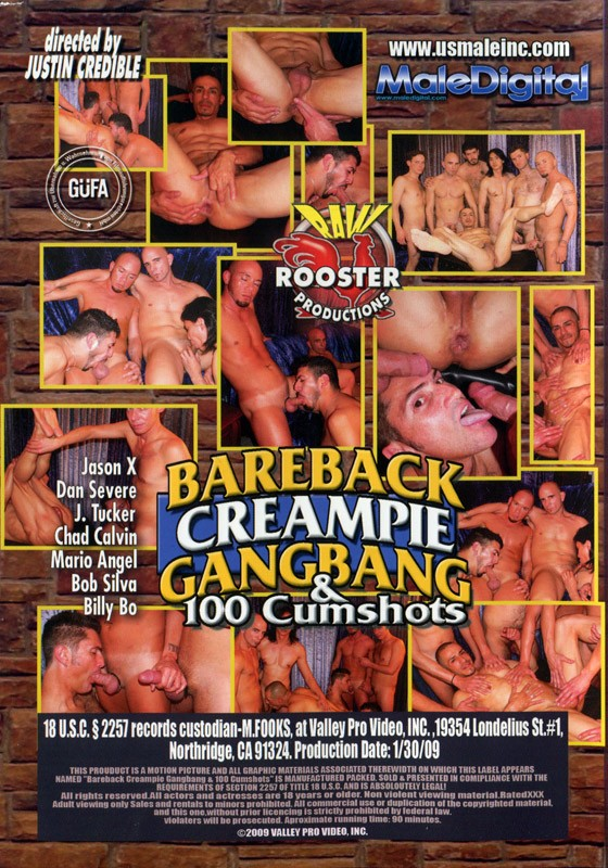 Bareback Creampie Gandbang & 100 Cumshots DVD - Back