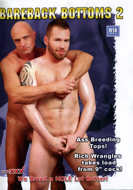 Bareback Bottoms 2 DVD - Front