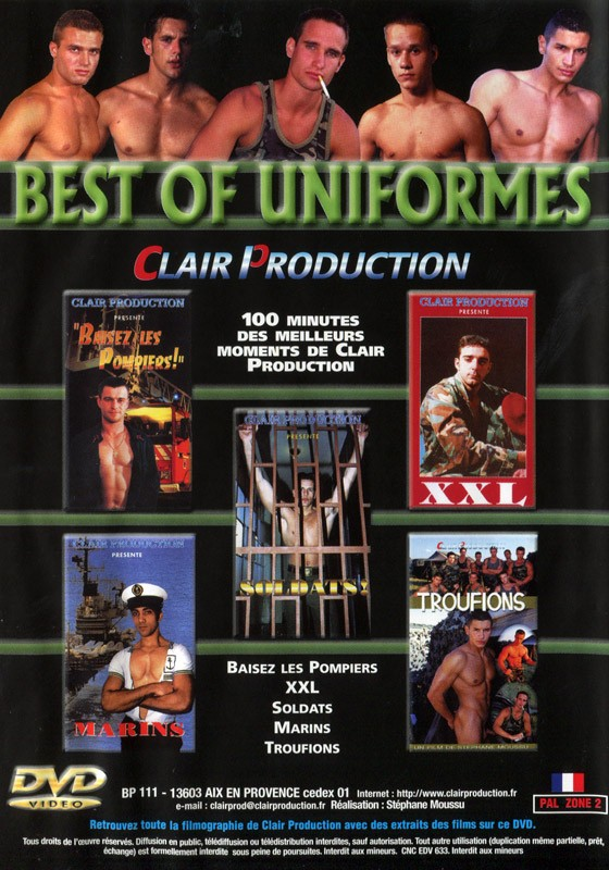 Best of Uniformes DVD - Back