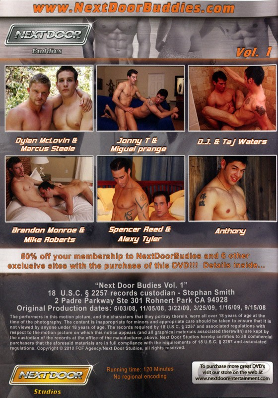 Nextdoor Buddies vol. 1 DVD - Back