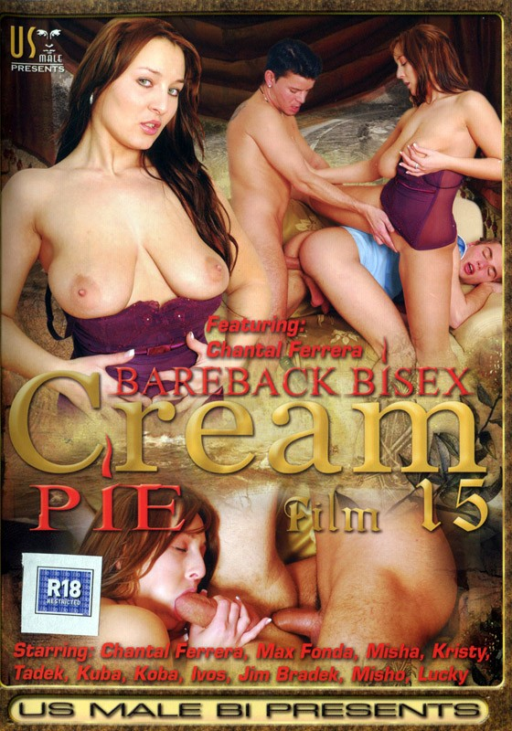 Bareback Bisex Cream Pie 15 DVD - Front