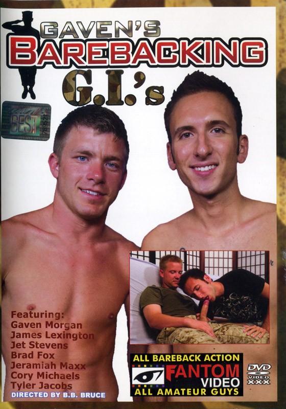 Gaven's Barebacking G.I's DVD - Front