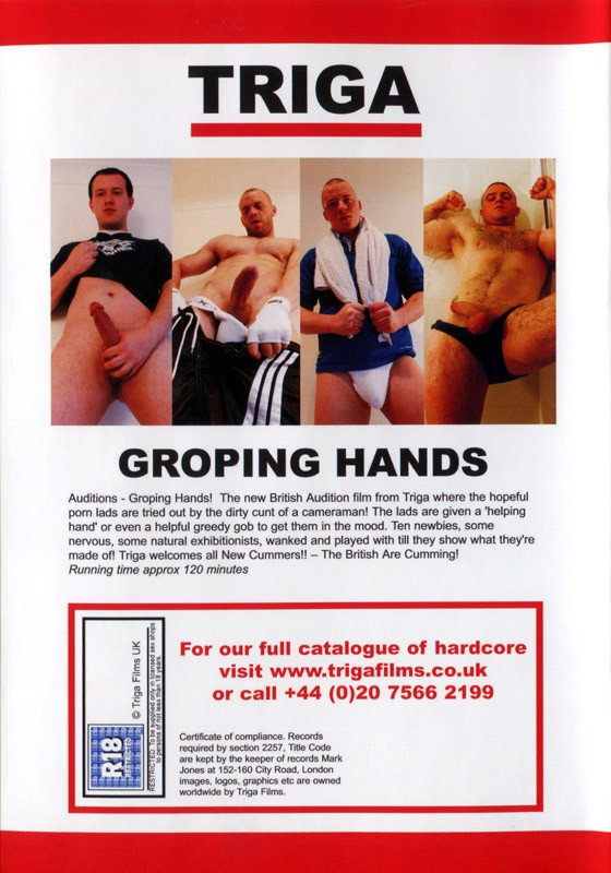 Groping Hands DVD - Back
