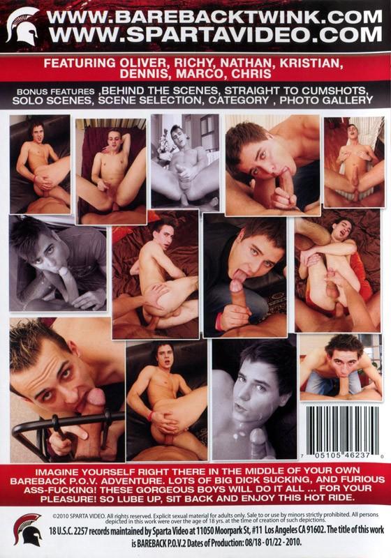 Bareback P.O.V. 2 DVD - Back