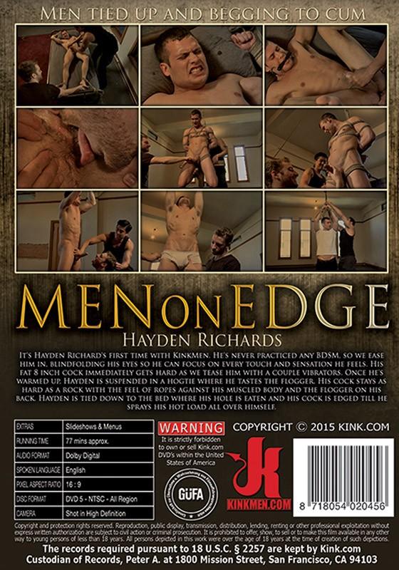 Men on Edge 33 DVD (S) - Back