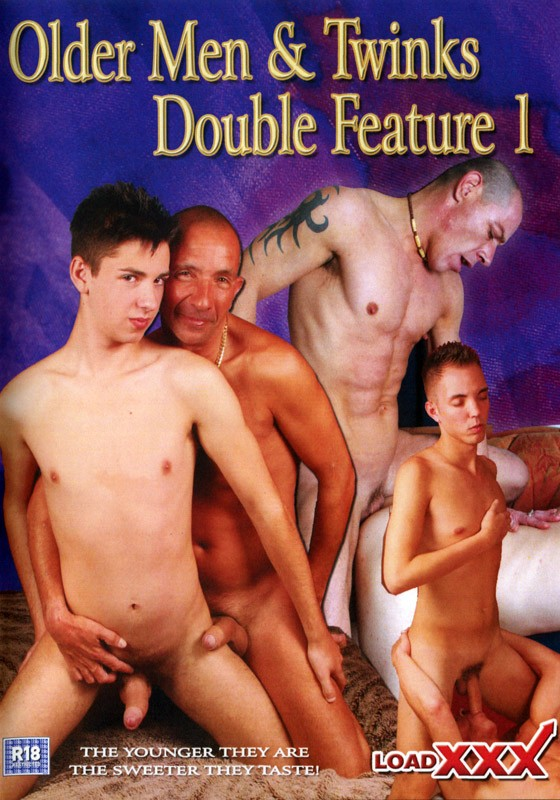 Older Men & Twinks Double Feature 1 DVD - Front