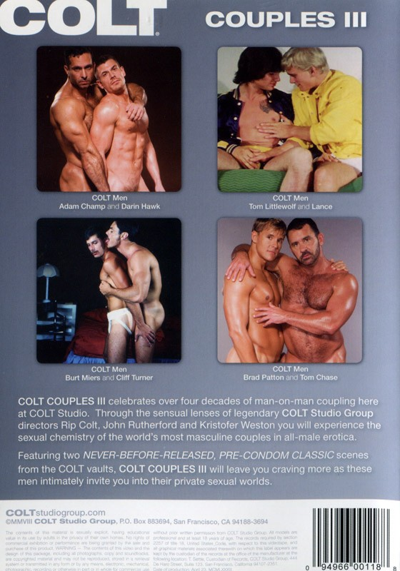 Couples 3 DVD - Back