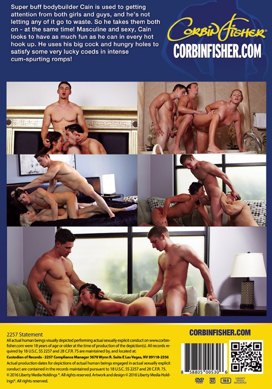 Bi College Guys: Cain DVD - Back
