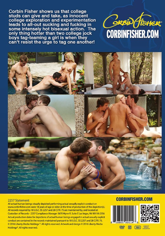 Bi College Guys DVD - Back