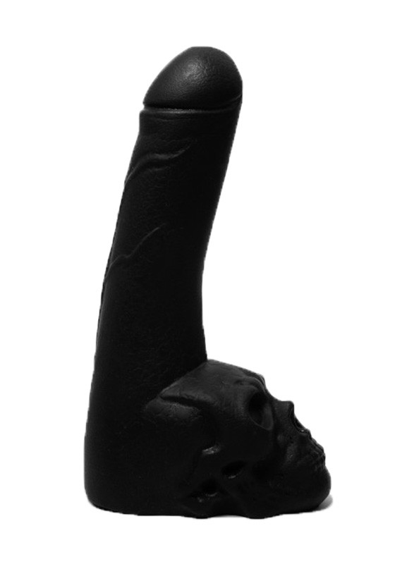 Cock with Skull - Black - Front
