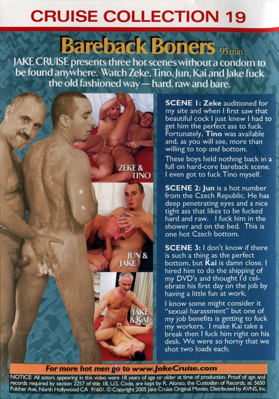 Bareback Boners (Cocksure) DVD - Back