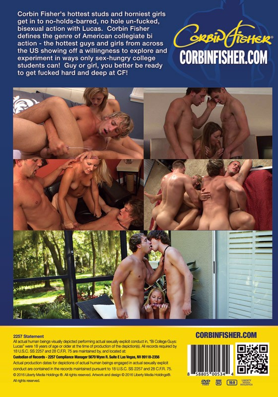 Bi College Guys: Lucas DVD - Back