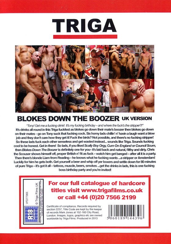 Blokes Down The Boozer (UK Version) DVD - Back
