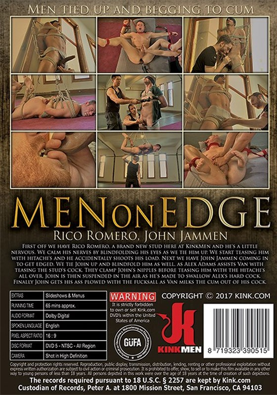 Men on Edge 55 DVD - Back