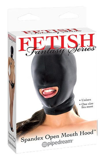 FF Spandex Open Mouth Hood - Black - Gallery - 001