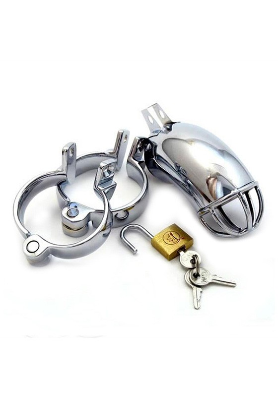 Male Chastity Device - Lancelot Diamond Tube - Stainless Steel - Front