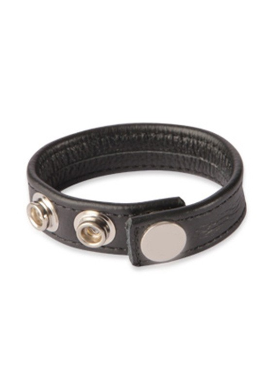 3 Snap Leather Cock Ring - Front
