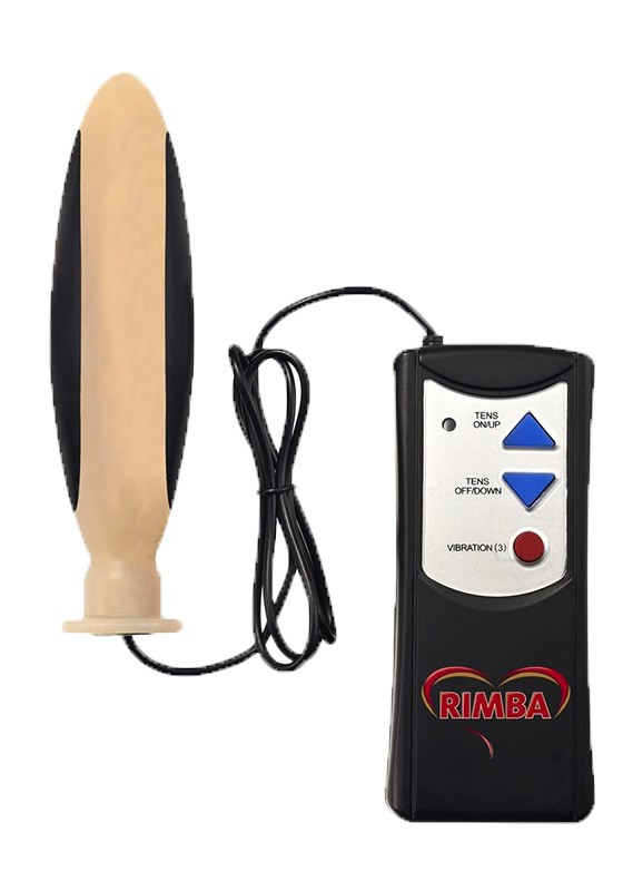 Rimba VIB STIM Tens And Vibrating Plug With Wired Remote Control - Front