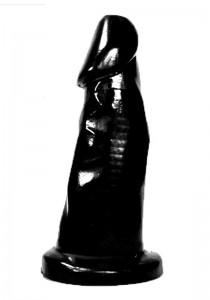 All Black AB38 Dildo - Front