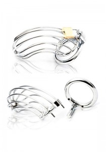 Male Chastity Device - Bird Cage - Stainless Steel